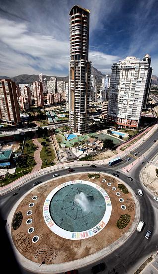 vistas aereas edificios negurigane nuevas rotondas de benidorm