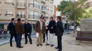 Jaime Lloret y Jerónimo Lloret con técnicos de la Diputación