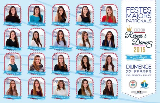 Cartel eleccion Reinas y Damas  MAYOR2015