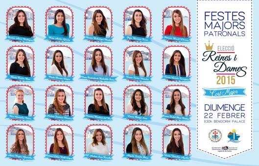 Cartel eleccion Reinas y Damas  MAYOR2015