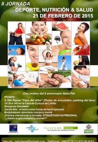 Sanidad_jornada deporte nutrición y salud CARTEL