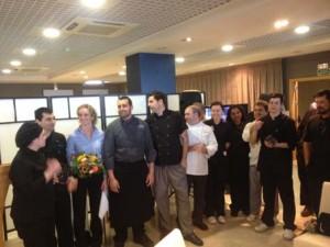 David López y su equipo, del restaurante Ca Marta