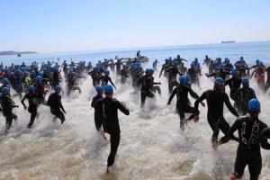 Salida sector natación Postiguet