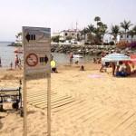 zona fumadores playa