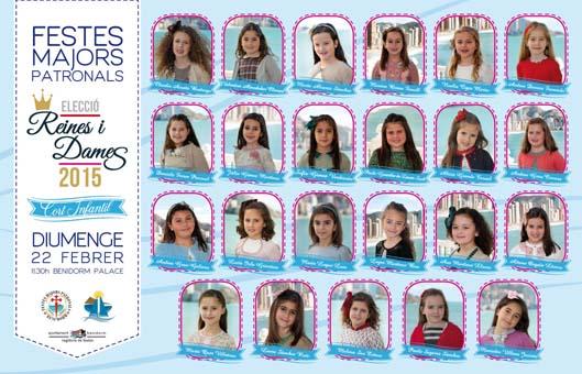 Cartel eleccion Reinas y Damas  INFANTIL2015
