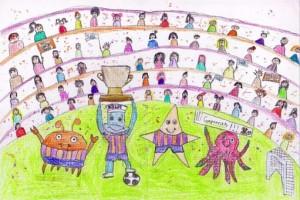 Cartel del concurso y dibujo  ganador de la anterior edición