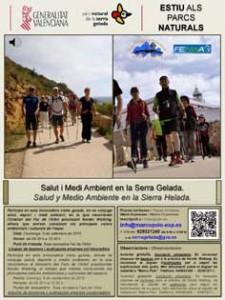 Serra Gelada_Cartel salut y medioambiente