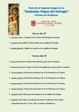 Programa Visita de la Virgen del Sufragio